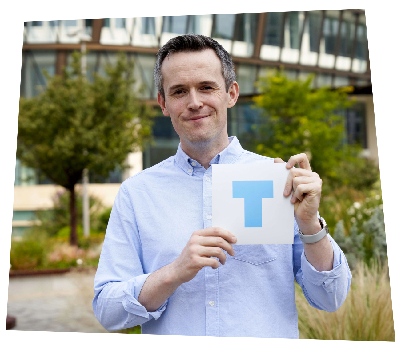 Paul Evans holding the T-plate